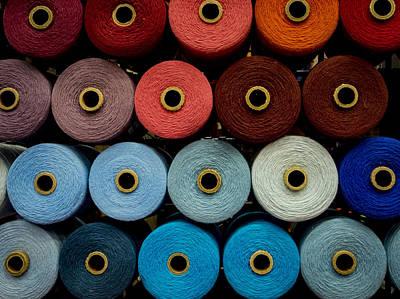 Cones Of Thread Print by Jean Noren