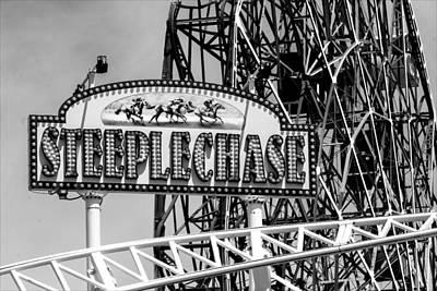 Roller Coaster Photograph - Coney Island Roller Coasters by Robert Ullmann