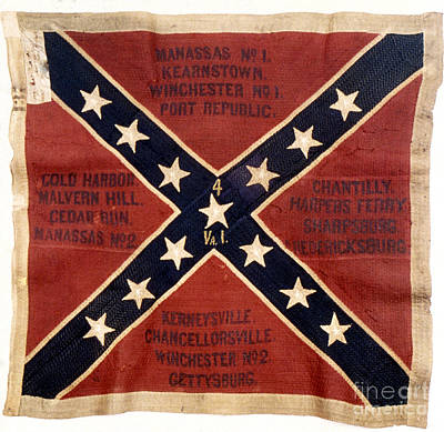 Civil Photograph - Confederate Flag, 1863 by Granger