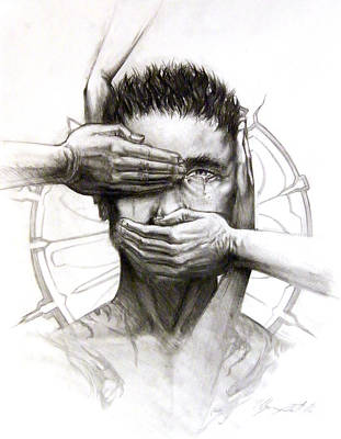 Tears Drawing - Confession by Ulysses Albert III
