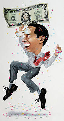 Caricature Painting - Confetti Man by Denny Bond