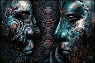 Mask Photograph - Confrontation  by Daniel Arrhakis