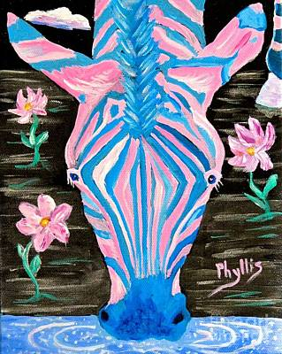Hind Painting - Congfused Zebra by Phyllis Kaltenbach