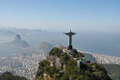Christ The Redeemer Photograph - Congrats Rio De Janeiro by AnaVianna