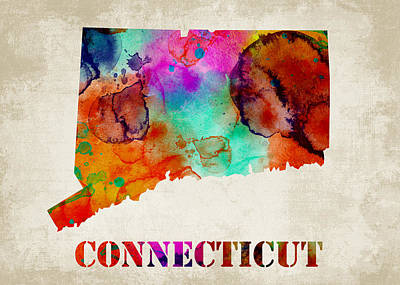 Connecticut Print by Mihaela Pater
