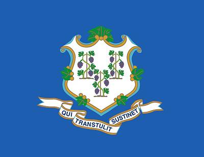 Connecticut State Flag Print by American School