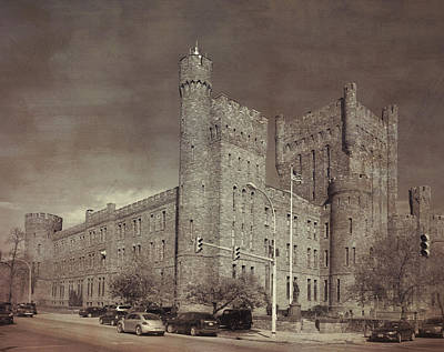 Connecticut Street Armory 11849 Print by Guy Whiteley