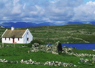 Connemara, Co Galway, Ireland Cottages Print by The Irish Image Collection