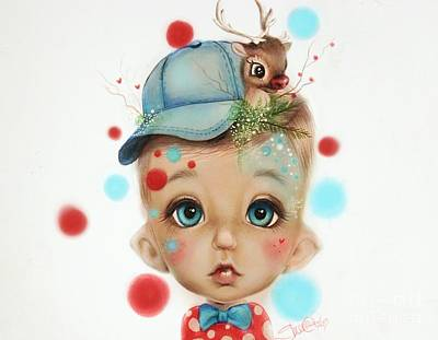 Color Pencil Mixed Media - Connor - Elf  by Sheena Pike
