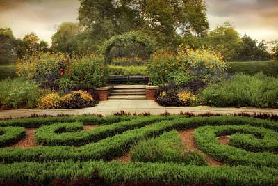 Lush Digital Art - Conservatory Garden by Jessica Jenney