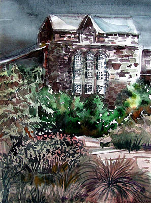 Early Spring Mixed Media - Conservatory Gardens In Scotland by Mindy Newman