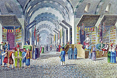 Orthodox Painting - Constantinople Indoor Bazaar by Munir Alawi