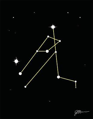 Softball Drawing - Constellation by Jerry Watkins