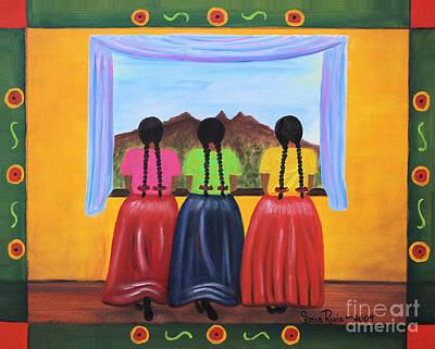 Oaxacan Painting - Contemplando by Sonia Flores Ruiz