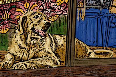 Golden Retriever Pop Art Photograph - Contemplating by Bibi Romer