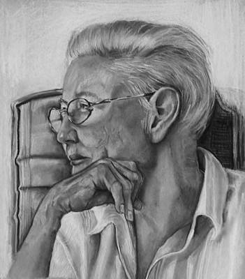 Contemplating Drawing - Contemplation by Jean Cormier
