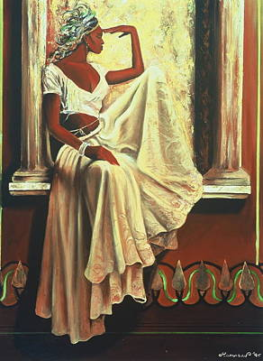 African-american Painting - Contemplation by Lee Ransaw