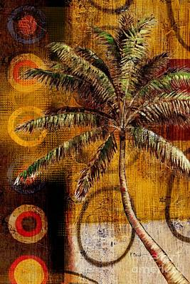 Palmettos Painting - Contemporary Palm II - Vertical by Paul Brent