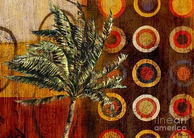 Palmettos Painting - Contemporary Palm by Paul Brent