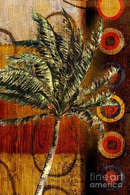 Palmettos Painting - Contemporary Palm I - Vertical by Paul Brent
