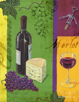 Contemporary Wine Collage I Print by Paul Brent