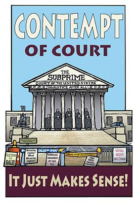Contempt Of Court Print by Ricardo Levins Morales