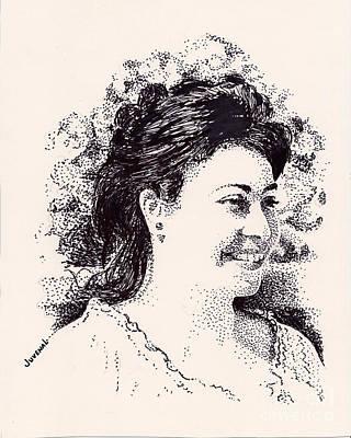 Contest Girl Print by Joseph Juvenal