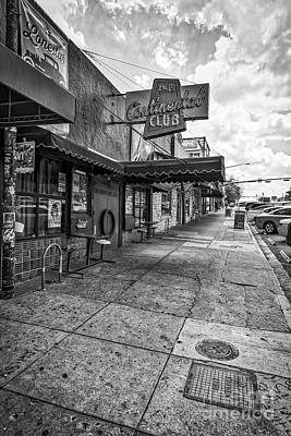 Austin Photograph - Continental Club Austin Black And White by Tod and Cynthia Grubbs