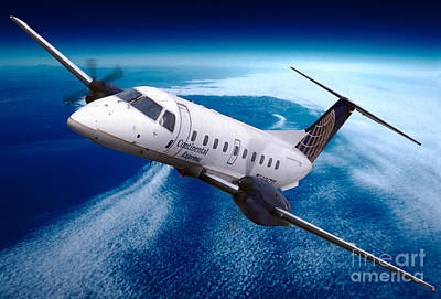 Fixed Wing Multi Engine Photograph - Continental Express Embraer Emb120rt Brasilia N16731 by Wernher Krutein