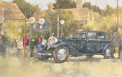 British Classic Cars Painting - Continental Phantom Two by Peter Miller