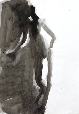 Wash Drawing - Contrapposto by Amela Subasic