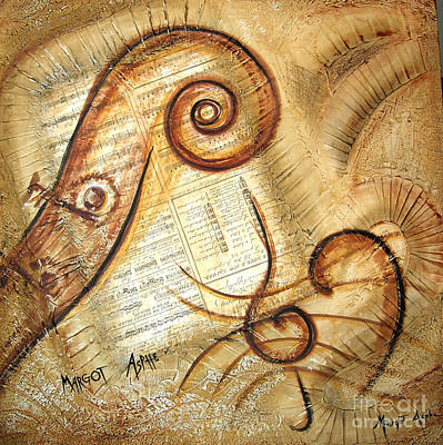 Margot Painting - Contrebass by Margot  Asphe
