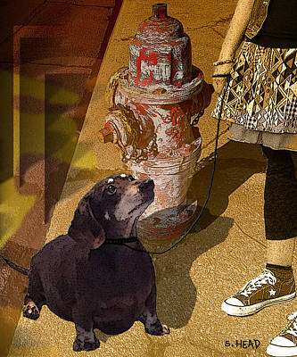 Walking The Dog Digital Art - Converse And Cocoa by Steven Head