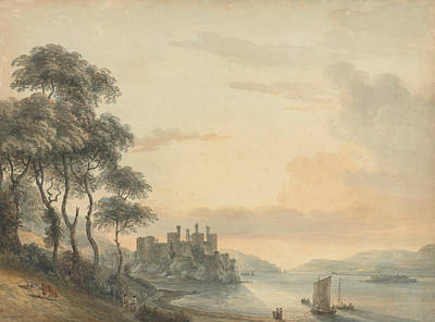 18th Century Painting - Conway Castle by Paul Sandby