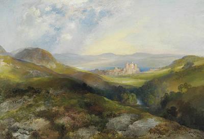 Conway Castle Print by Thomas Moran