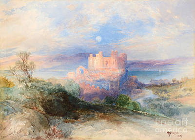 Kingdom Painting - Conway Castle by Thomas Moran
