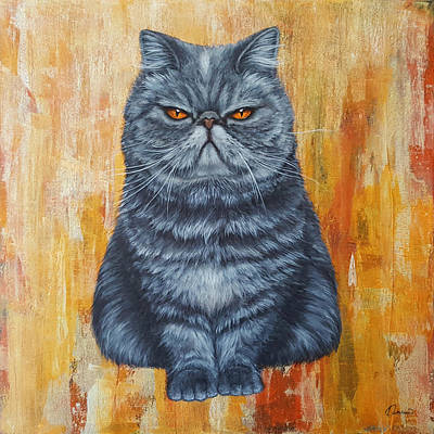 Cat Painting - Cool Cat by Kathleen Wong