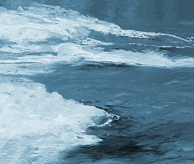 Blueish Painting - Cool Grunge by Dan Sproul