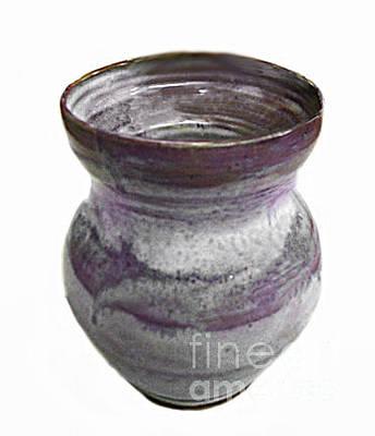 Biloxi Pottery Ceramic Art - Cool Hues Vase by Vernon Nix