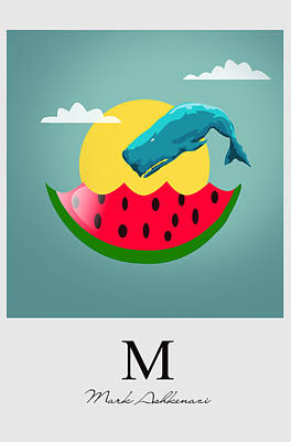 Watermelon Digital Art - Cool  by Mark Ashkenazi
