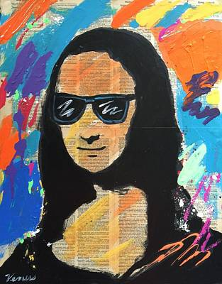Louvre Mixed Media - Cool Mona Lisa by Venus