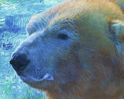 Bear Mixed Media - Cool Polar Bear by Dan Sproul