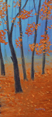 Park Painting - Cool Warmth Of Autumn Triptych 3 Of 3 by Ken Figurski