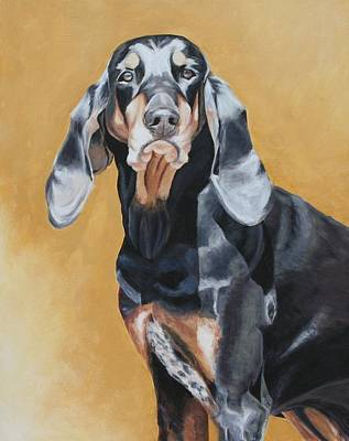 Coonhound Painting - Coonhound 1 by Wendy Whiteside
