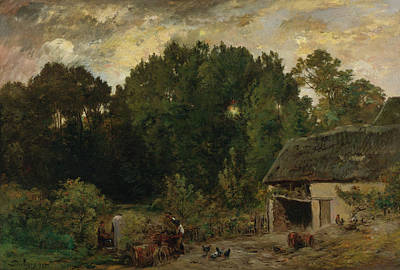 House Painting - Cooper by Charles-Francois Daubigny