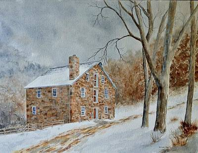 Cooper Gristmill In Winter Original by Denise Harty