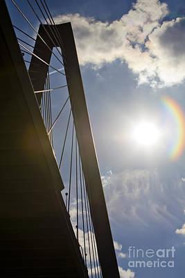 Cooper River Bridge Lens Flair Original by Dustin K Ryan