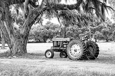 Tractor Photograph - Coosaw - John Deere Parked by Scott Hansen