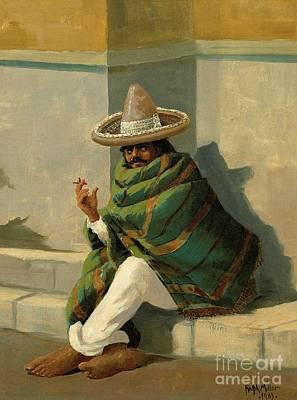 Poncho Painting - Copenhagen  by Ralph Davidson