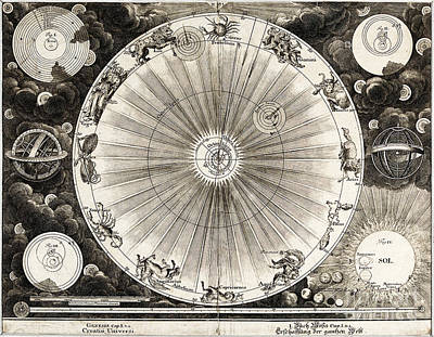 1732 Photograph - Copernican Astronomy, 1732 by Wellcome Images